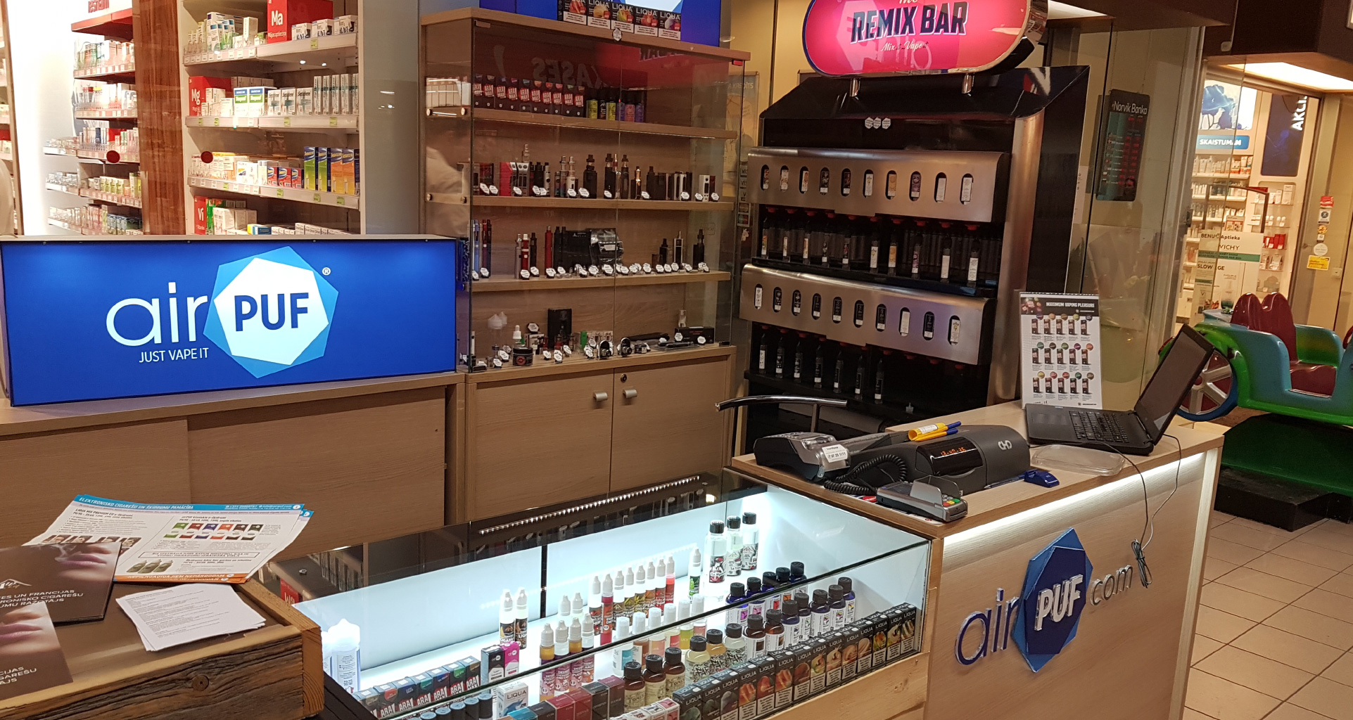 e-cigaretes spice, elektroniskās cigaretes, e-šķidrumi pārdaugava, remixjuice, remixbar, airpuf