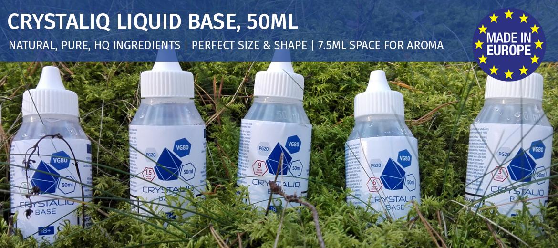 crystaliq e-liquid bases, e-liquid base, natural e-liquid base, diy base - airpuf