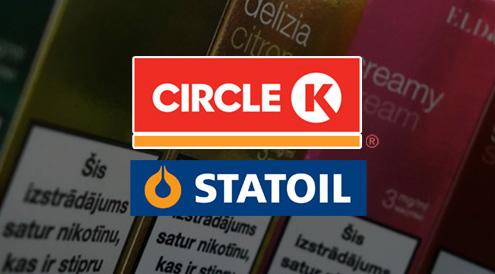 Circle K, Statoil DUS, e-cigaretes šķidrumi, elektroniskās cigaretes