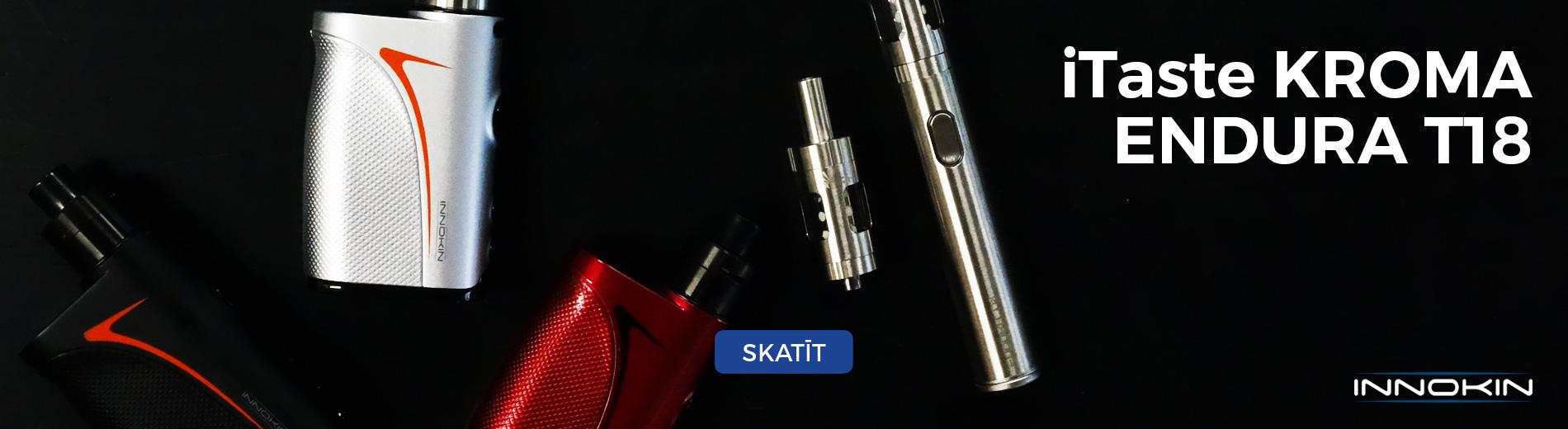 innokin e-cigaretes, elektroniskās cigaretes, itaste, kroma, slipstream, endura T18, airpuf