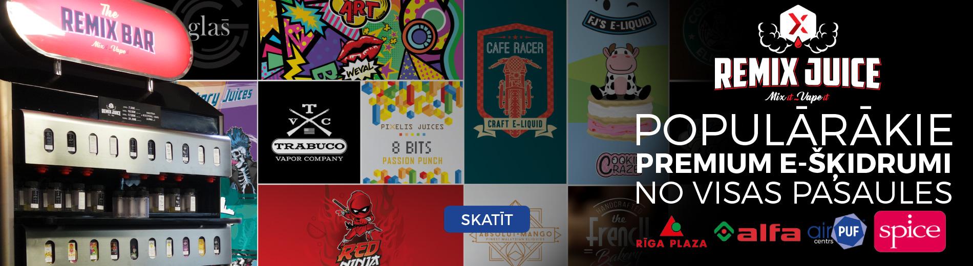 remix juice, remix bar, e-šķidruma bārs, e-cigaretes bārs, airpuf