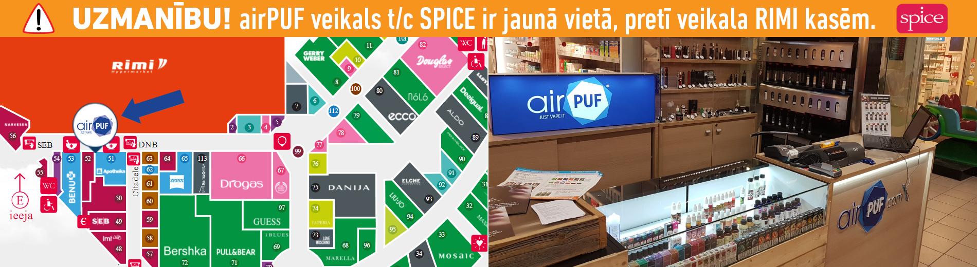 airpuf spice, e-cigaretes spice, elektroniskās cigaretes spice, e-šķidrumi spice, spice home e-cigaretes šķidrumi, airpuf