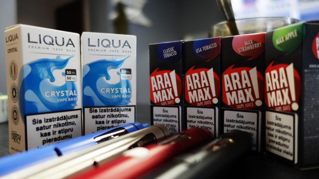 nikotīna boosteris, aramax e-šķidrums, e-cigaretes šķidrums, airpuf