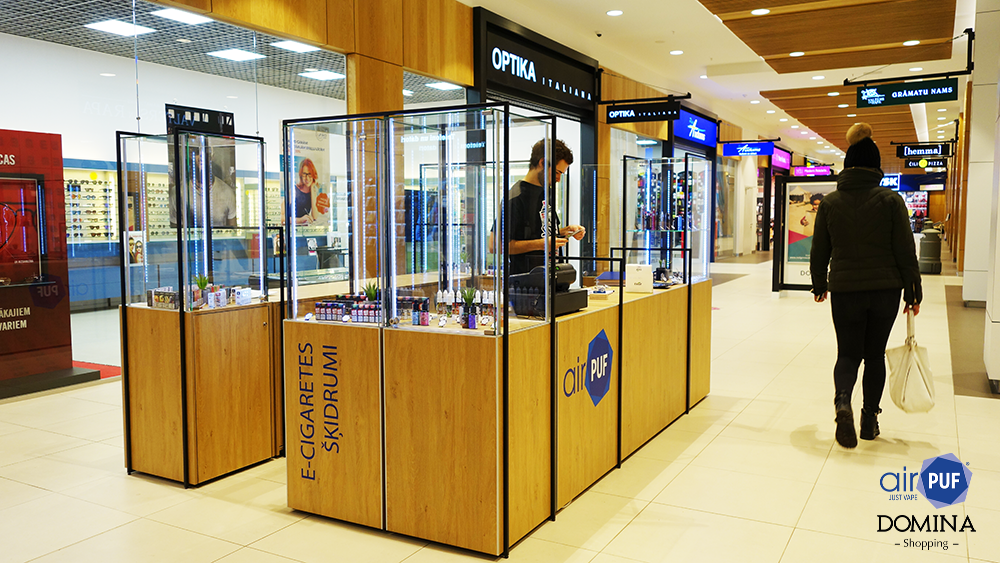 e-cigaretes veikals domina shopping, elektroniskās cigaretes un e-šķidrumi Domina, e-cigaretes pļavnieki, e-šķidrumi teika, airpuf, domina shopping