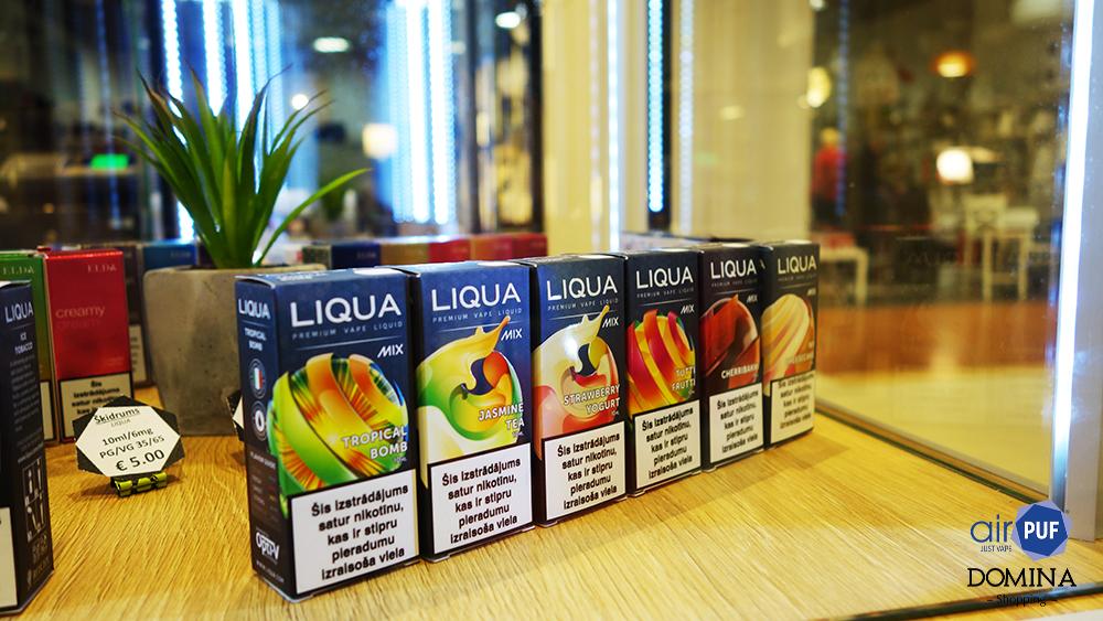 e-cigaretes purvciems, elektroniskās cigaretes pļavnieki, e-šķidrumi teika, airpuf, domina shopping